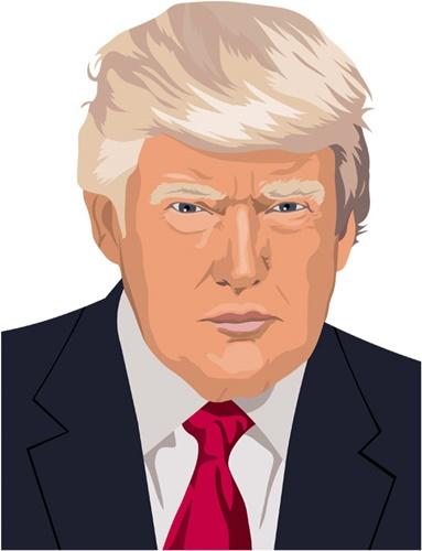 米国大統領。ドナルド・トランプのイラスト